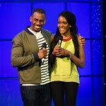 Richard Blackwood and Contestant