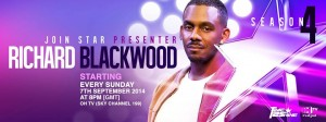 Richard Blackwood starting 7th Sept